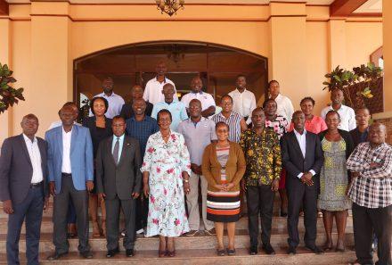 Hon. Amelia Kyambadde Minister of Trade Industry and Cooperatives officially opened the 2020/2021 – 2024/2025 Uganda National Bureau of Standards Strategic Plan Workshop