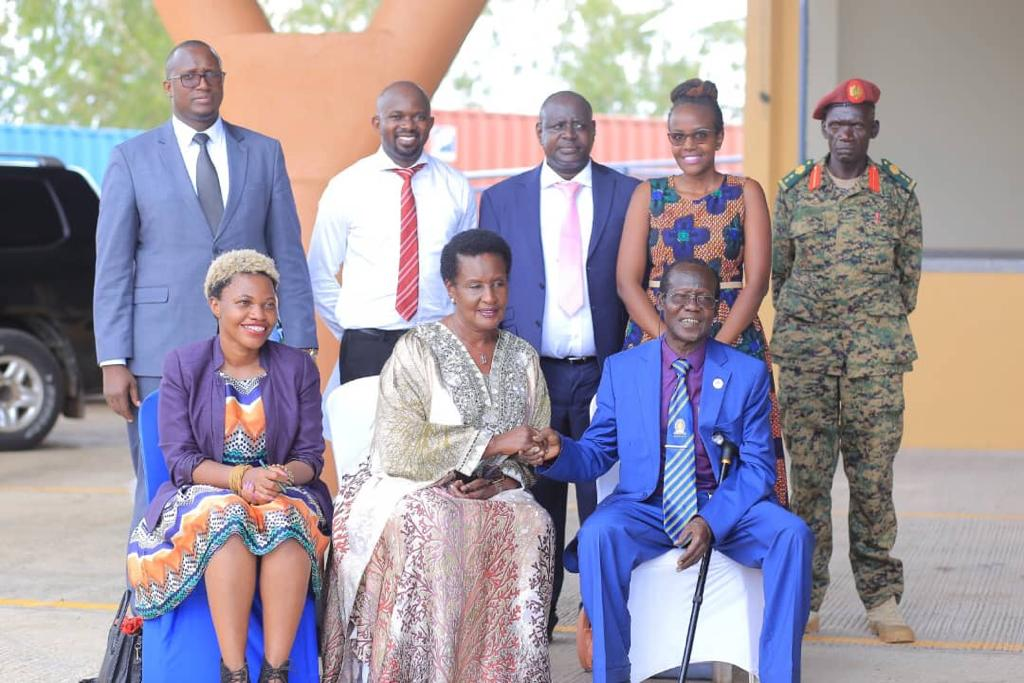H.E the Vice President of South Sudan James Wani Igga and Hon. Minister of Trade, Industry, and Cooperatives Amelia Kyambadde officially opened the Nimule Border in the Republic of South Sudan