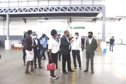 Minister Visits Graphics Systems Premises in Luzira Industrial park