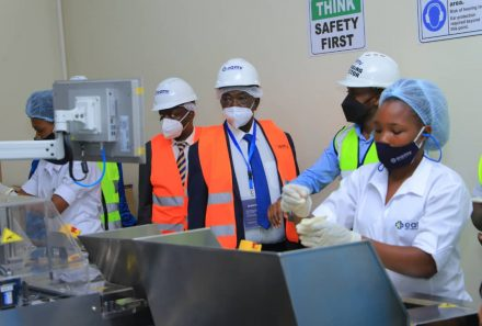 MINISTERS OF TRADE INDUSTRY AND COOPERATIVES VISIT EAST AFRICAN MEDICAL VITALS FACTORY